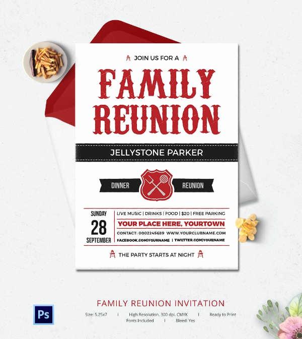 Free Family Reunion Flyer Templates Beautiful 32 Family Reunion Invitation Templates Free Psd Vector