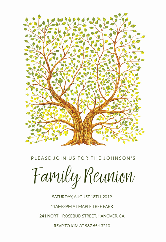 Free Family Reunion Flyer Templates Best Of Familytree Free Family Reunion Invitation Template
