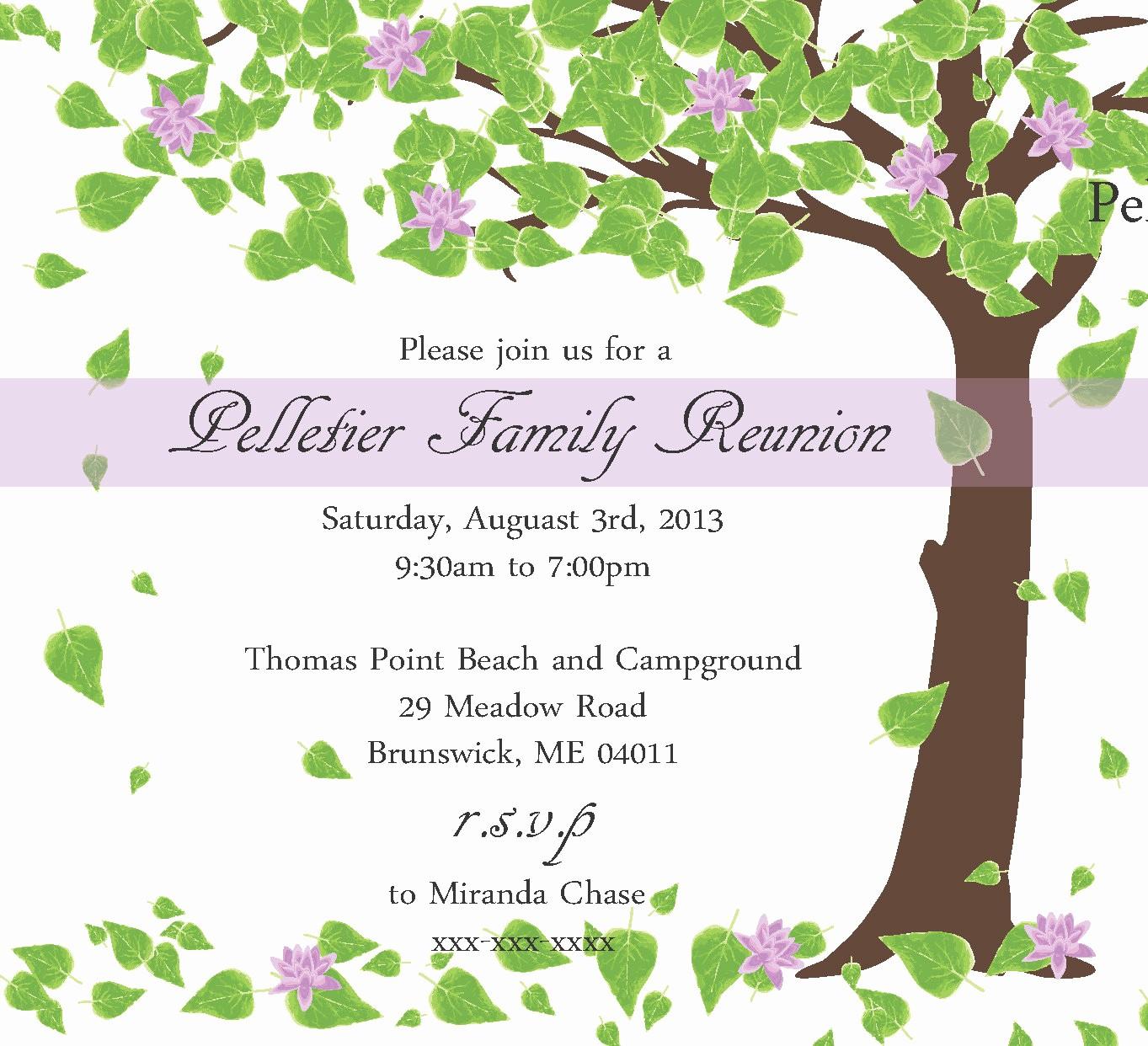 Free Family Reunion Flyer Templates Elegant Family Reunion Invitation