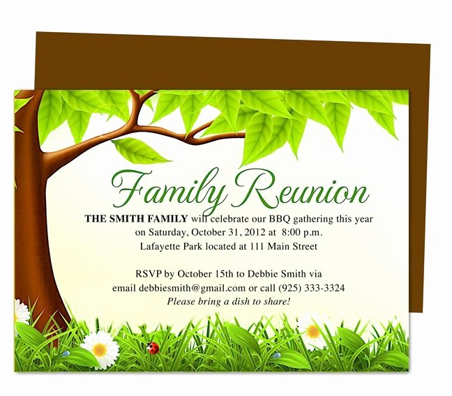 Free Family Reunion Flyer Templates Lovely Family Tree Reunion Party Invitations Templates