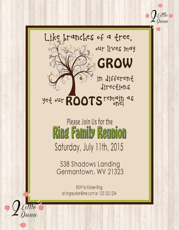 Free Family Reunion Flyer Templates Luxury 35 Family Reunion Invitation Templates Psd Vector Eps