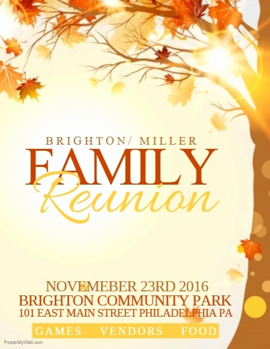 Free Family Reunion Flyers Templates Awesome Family Reunion Template