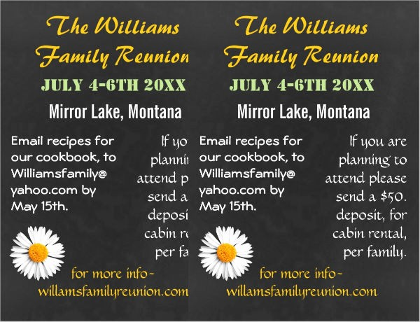 Free Family Reunion Flyers Templates Beautiful 49 Printable Invitation Flyer Designs & Templates Psd