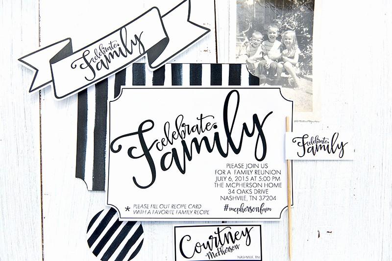 celebrate host a family reunion free printables