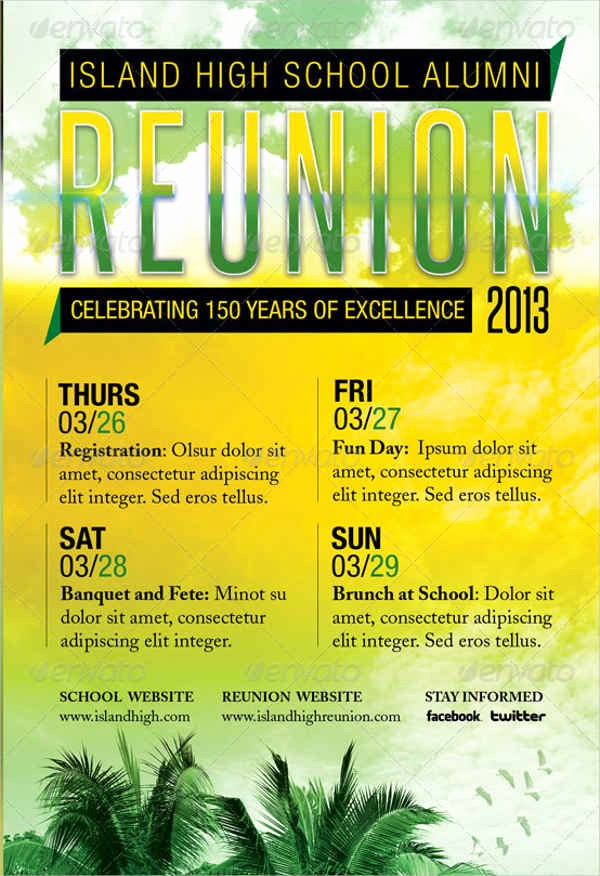 Free Family Reunion Flyers Templates Inspirational Flyer Designs