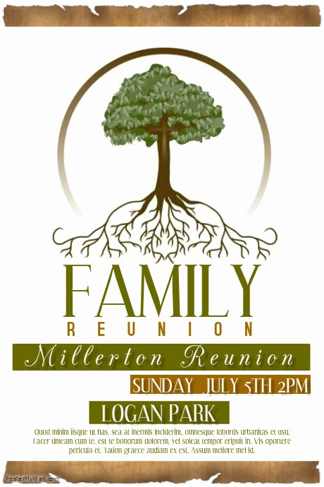 Free Family Reunion Flyers Templates Lovely 29 Of Family Reunion Template Free Editable