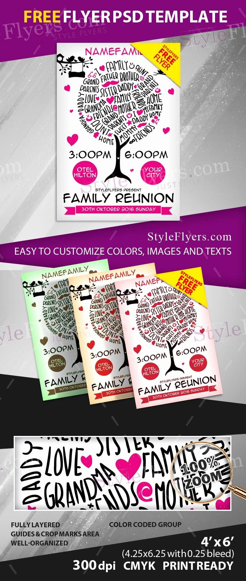 Free Family Reunion Flyers Templates Luxury Family Reunion Free Psd Flyer Template Free Download