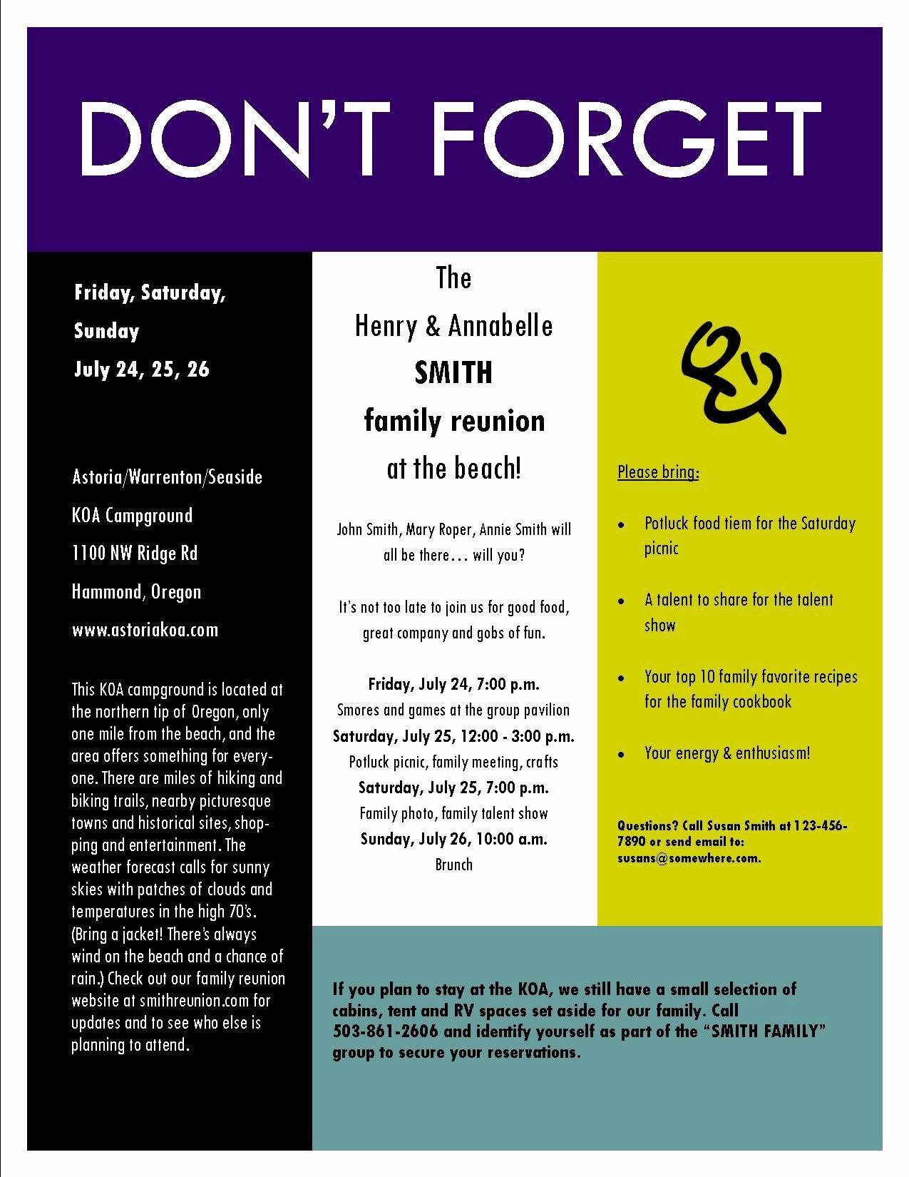 Free Family Reunion Flyers Templates Luxury Free Family Reunion Flyer Template Yourweek 0de2baeca25e