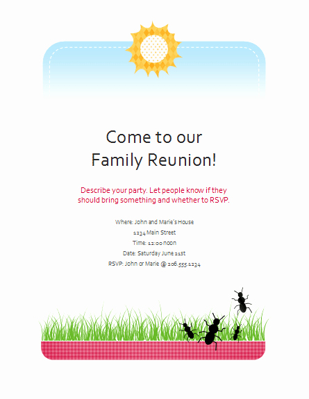 Free Family Reunion Flyers Templates New Download Family Reunion Flyer Free Flyer Templates for