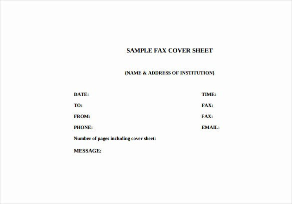 Free Fax Cover Letter Template Fresh 7 Fax Cover Letter Templates Free Sample Example