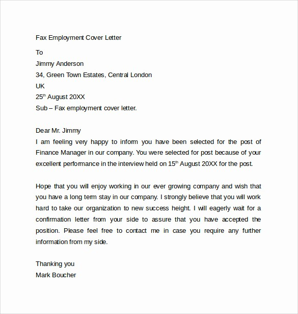 Free Fax Cover Letter Template Luxury 10 Fax Cover Letter Templates – Samples Examples & format