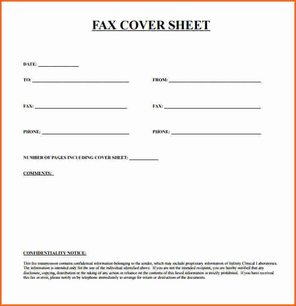 Free Fax Cover Page Template Inspirational 10 Fax Cover Sheet Template Bud Template Letter