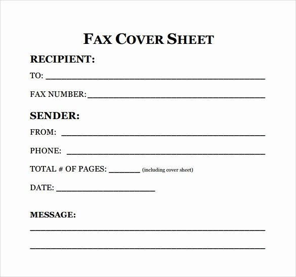 Free Fax Cover Page Template Luxury 8 Sample Fax Cover Sheet for Resumes