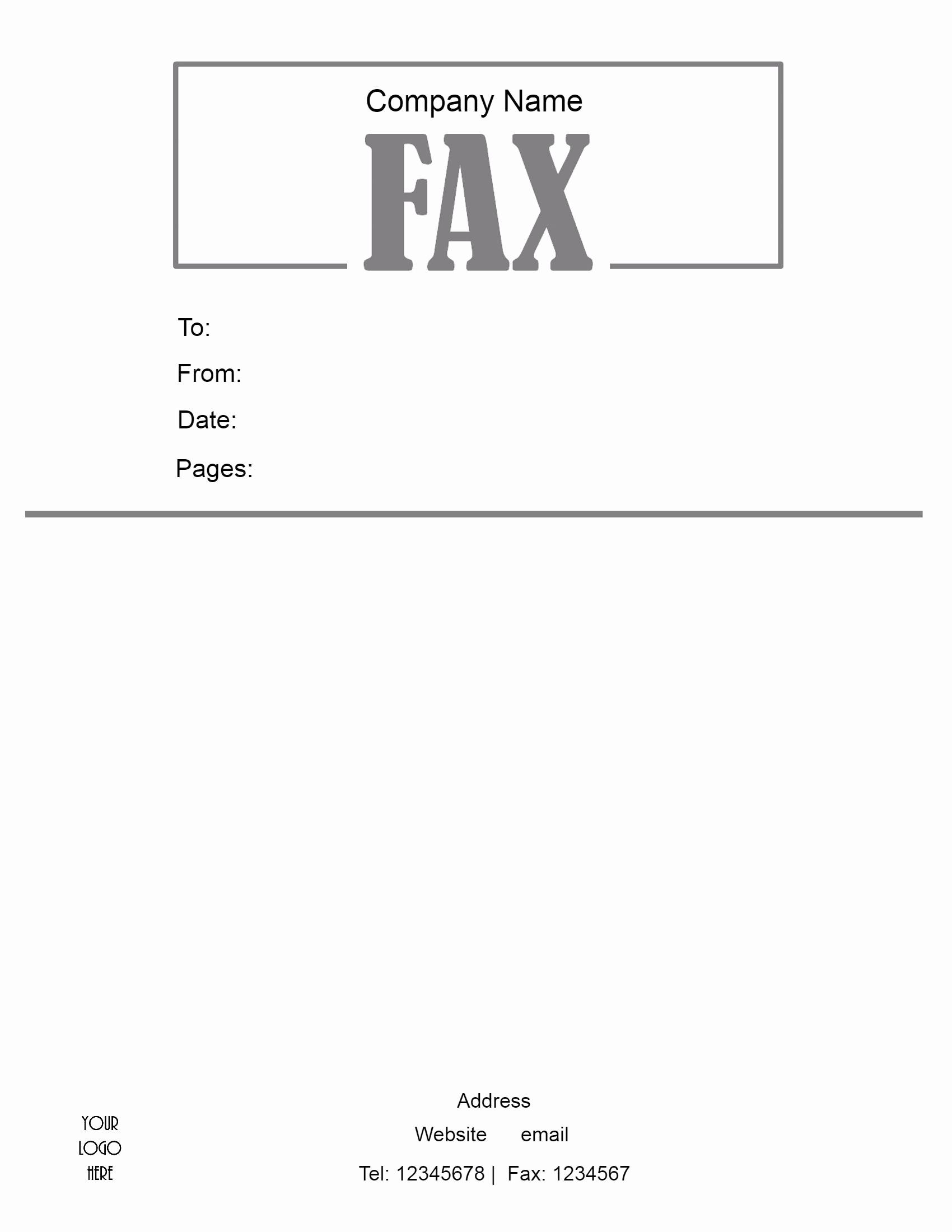 Free Fax Cover Sheet Templates Fresh Free Fax Cover Sheet Template
