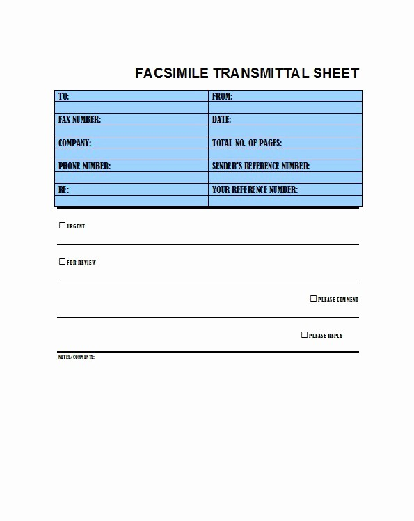 Free Fax Cover Sheets Download Inspirational 40 Printable Fax Cover Sheet Templates Free Template