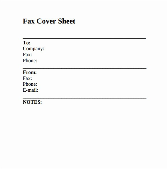 Free Fax Cover Sheets Download New 9 Sample Fax Cover Sheets