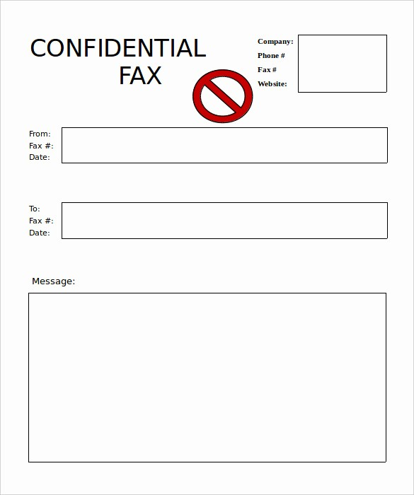 Free Fax Cover Sheets Download Unique 9 Blank Fax Cover Sheet Templates Free Sample Example