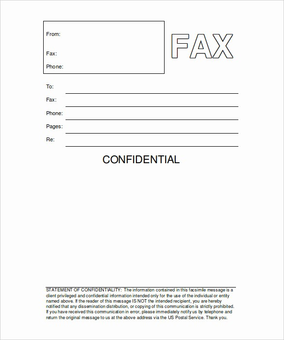 Free Fax Cover Sheets Templates Elegant 9 Printable Fax Cover Sheets Free Word Pdf Documents