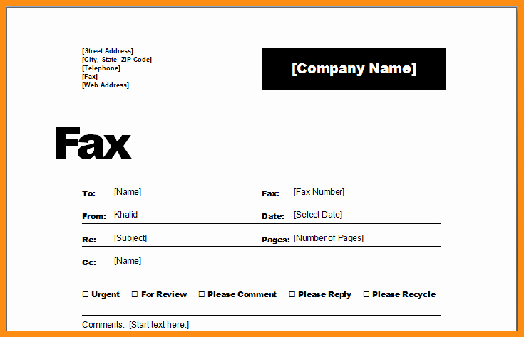 Free Fax Templates for Word Awesome 6 Free Fax Cover Sheet Template Word