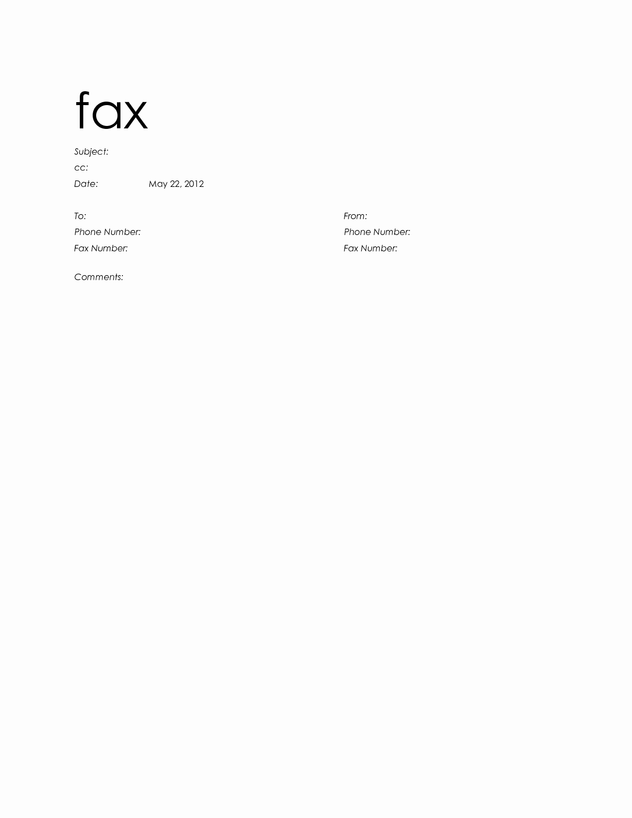 Free Fax Templates for Word Inspirational Standard Cover Letter General Resumes Standard Cover