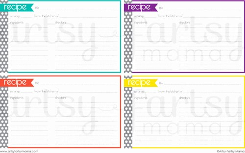 Free Fillable Recipe Card Template Fresh 25 Free Printable Recipe Cards Home Cooking Memories