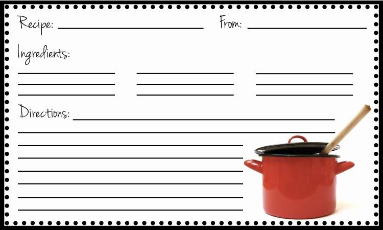 Free Fillable Recipe Card Template Luxury the Copper Coconut Fillable Recipe Card