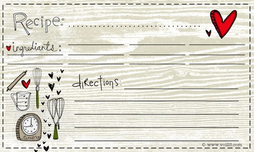 Free Fillable Recipe Card Template New 25 Free Printable Recipe Cards Home Cooking Memories