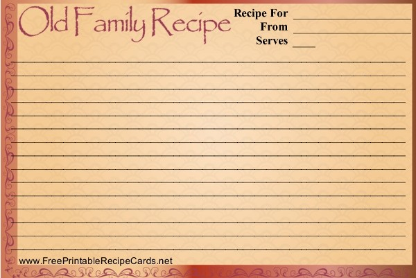 Free Fillable Recipe Card Template Unique 17 Recipe Card Templates Free Psd Word Pdf Eps
