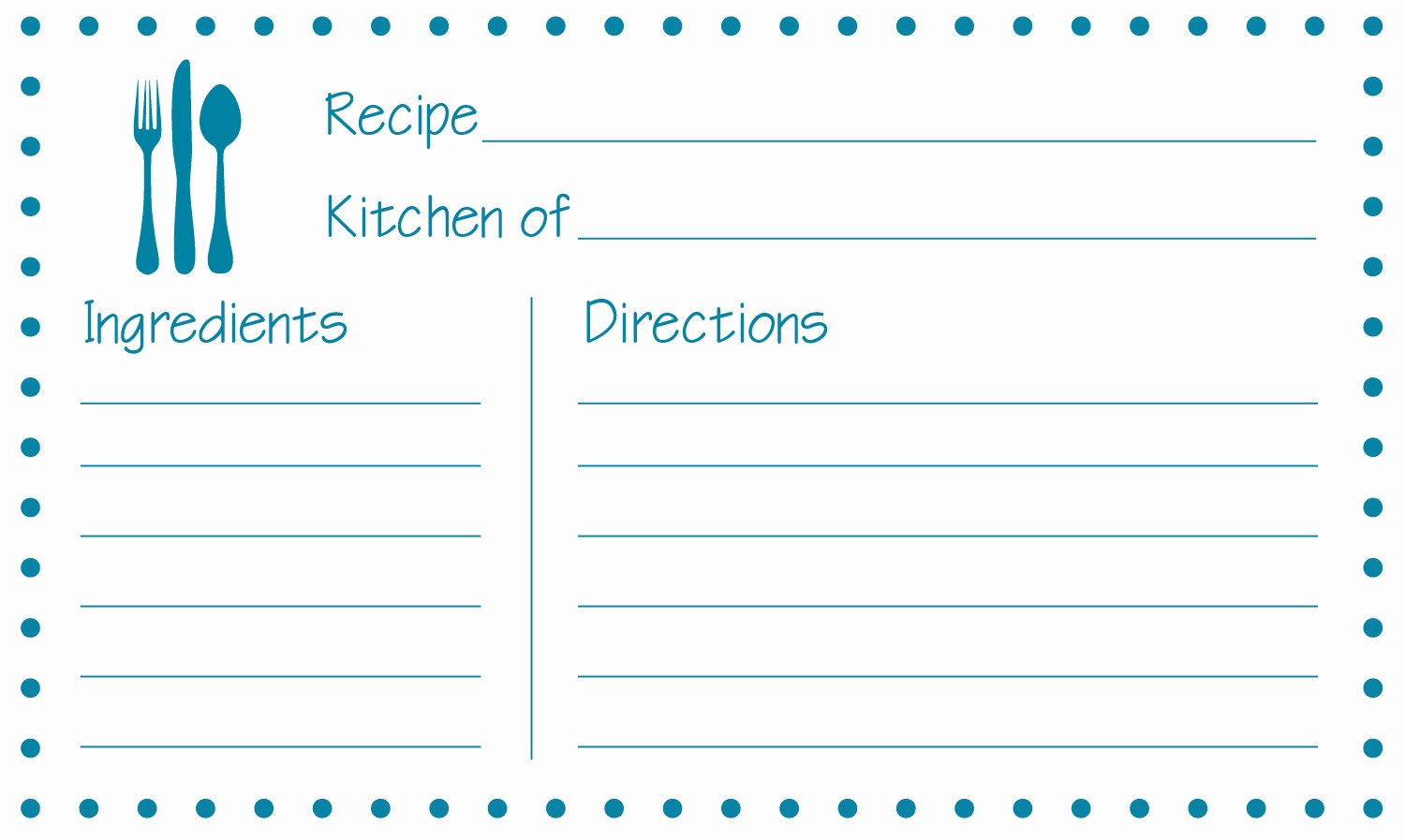 Free Fillable Recipe Card Template Unique 8 Best Of Free Printable 3x5 Recipe Cards