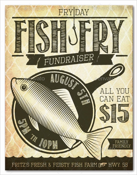 Free Fish Fry Flyer Template Awesome 36 Fundraiser Flyer Templates Psd Eps Ai Word