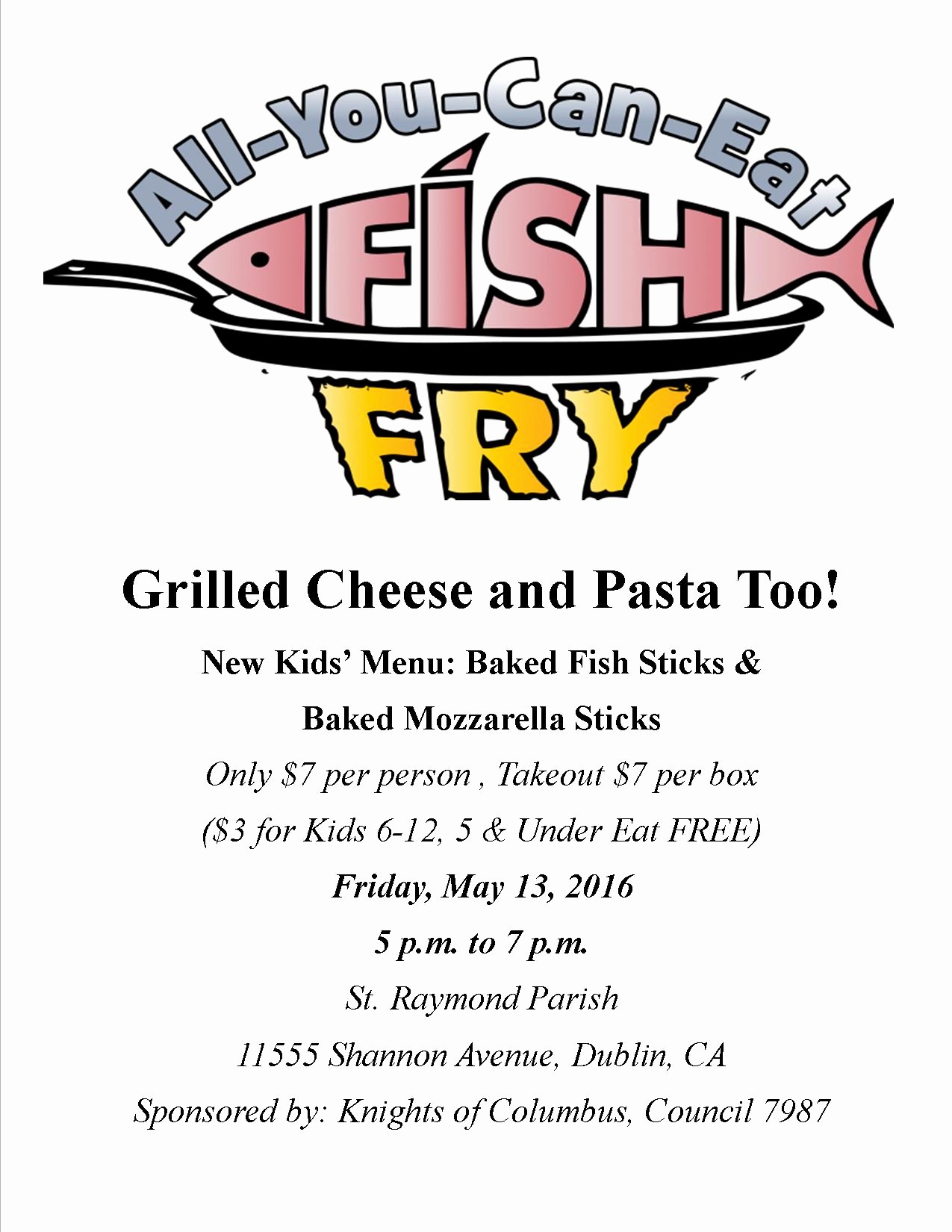 Free Fish Fry Flyer Template Awesome St Raymond Catholic Church – Next Fish Fry – May 13th 2016