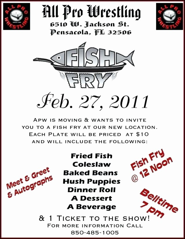 Free Fish Fry Flyer Template Best Of Workshop Invitation Template Fish Fry Free – Danielmelofo