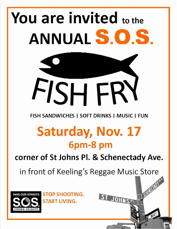 Free Fish Fry Flyer Template Elegant Crown Heights Munity Mediation Center S O S Fish Fry