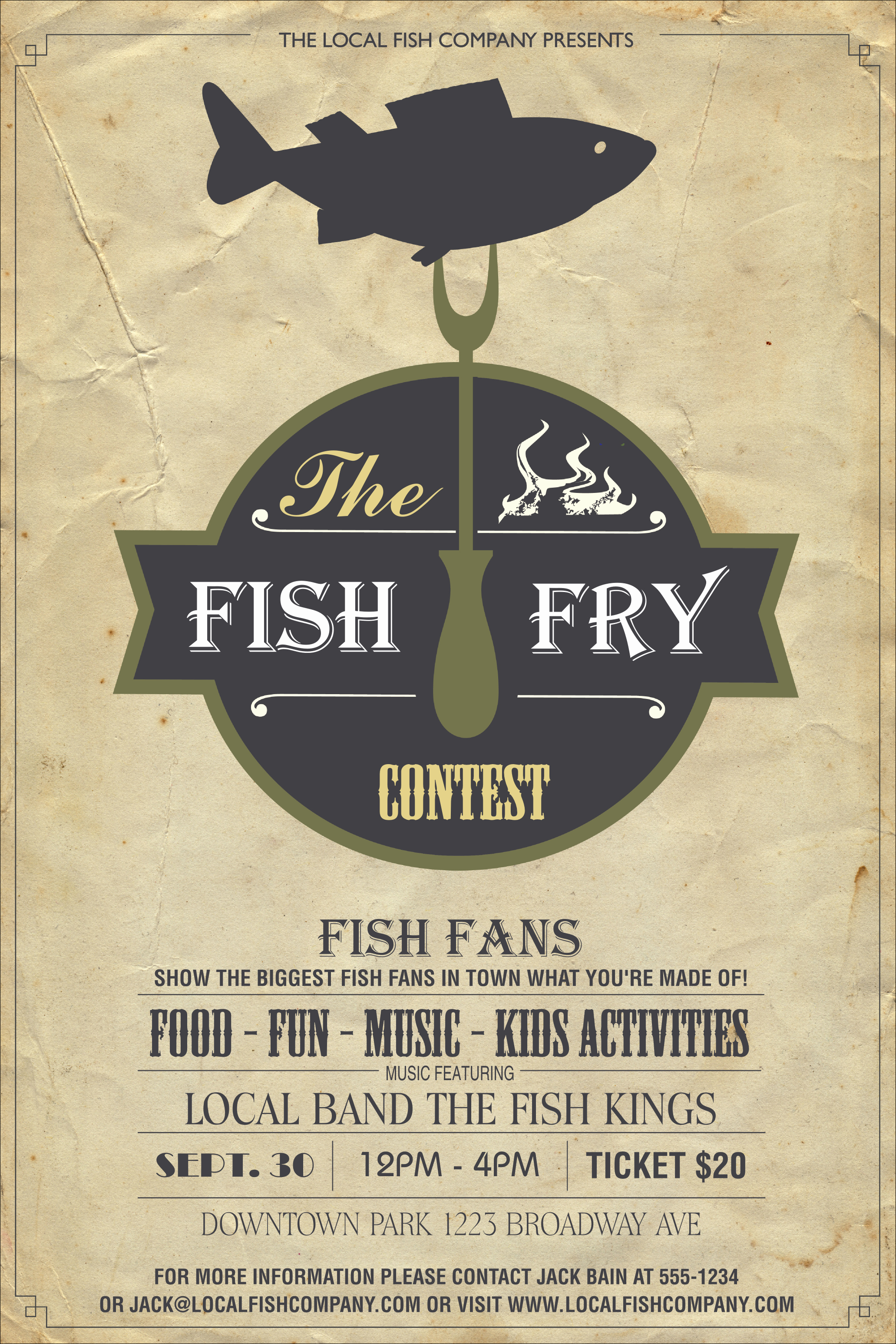 Free Fish Fry Flyer Template Elegant Fish Fry Poster