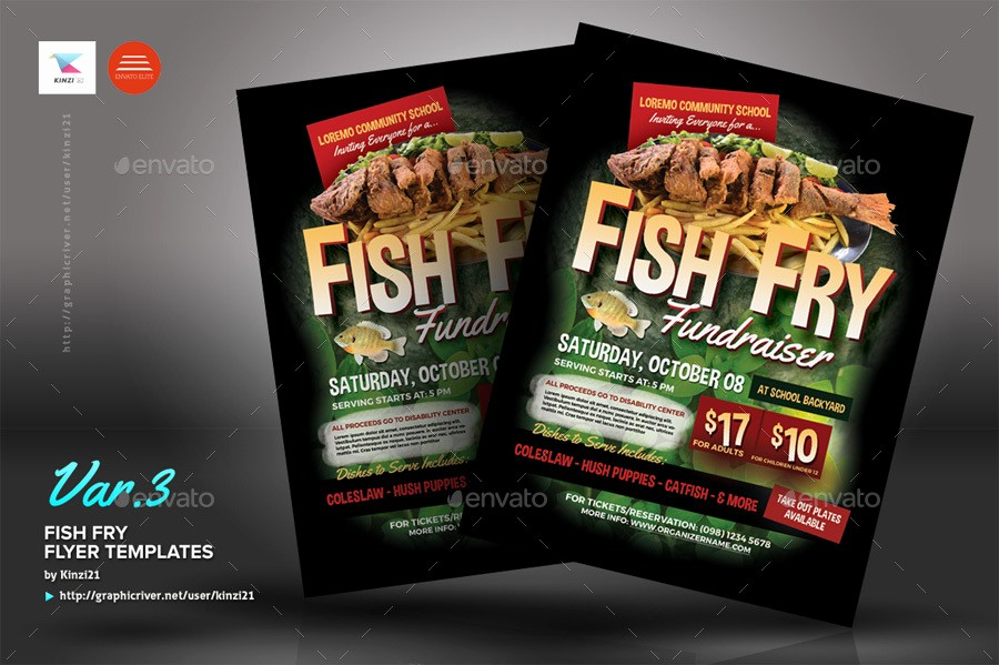 Free Fish Fry Flyer Template Fresh Fish Fry Flyer Templates by Kinzi21