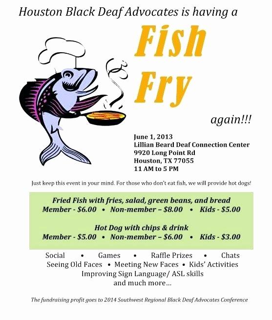 Free Fish Fry Flyer Template Fresh Fish Fry Invitation Template – Danielmelofo