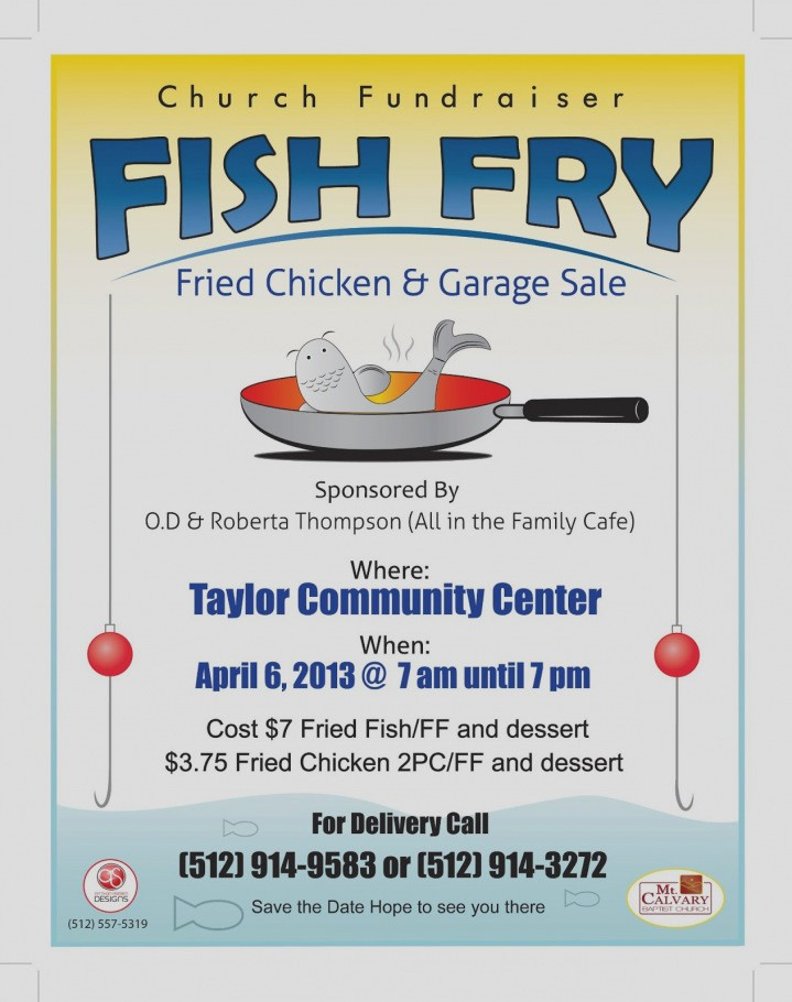 Free Fish Fry Flyer Template Fresh Luxury Fish Fry Flyer Template Embellishment Resume Ideas