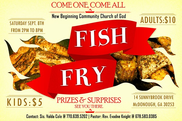 Free Fish Fry Flyer Template Inspirational Fish Fry On Behance