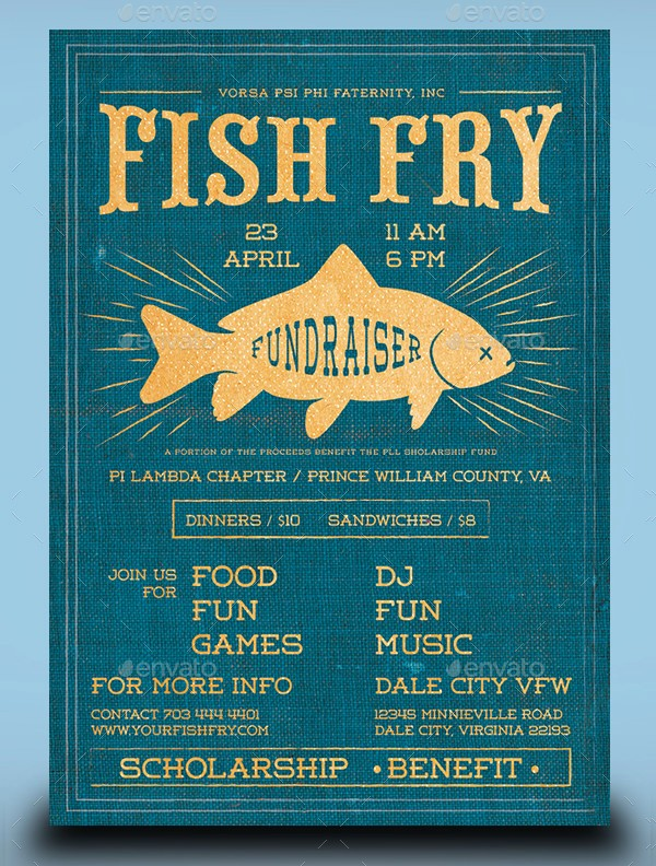 Free Fish Fry Flyer Template Lovely 20 Fishing Flyer Templates Free & Premium Download