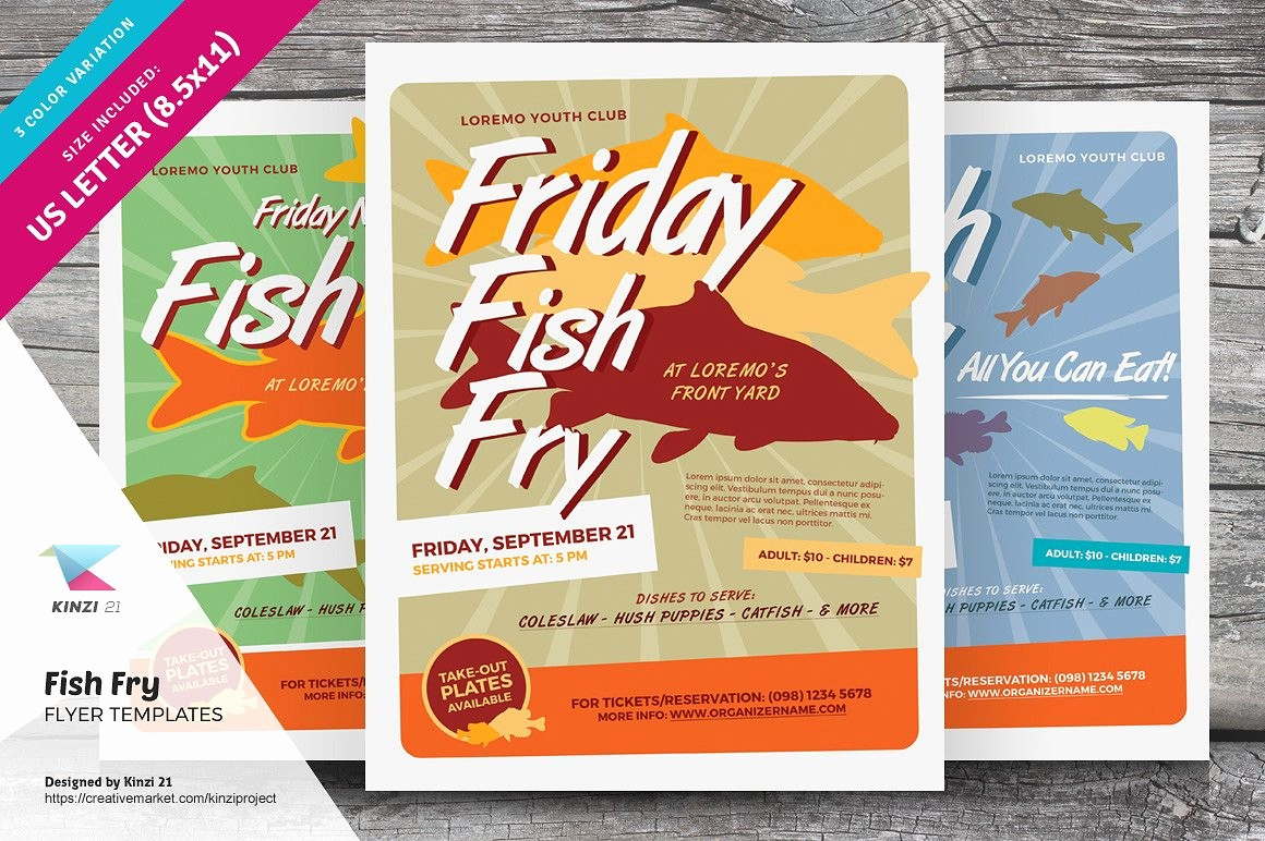 Free Fish Fry Flyer Template Lovely Fish Fry Flyer Templates Flyer Templates Creative Market