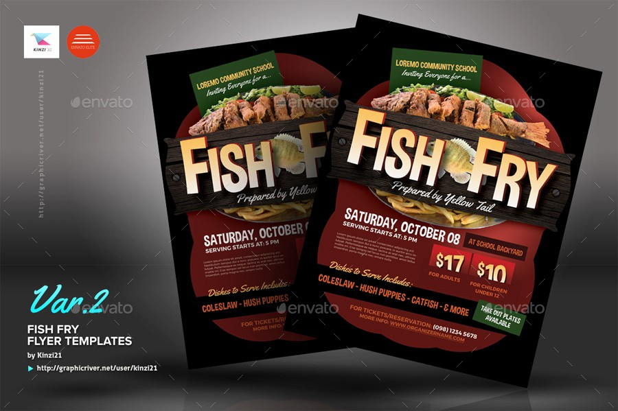 Free Fish Fry Flyer Template Luxury Fish Fry Flyer Templates by Kinzi21