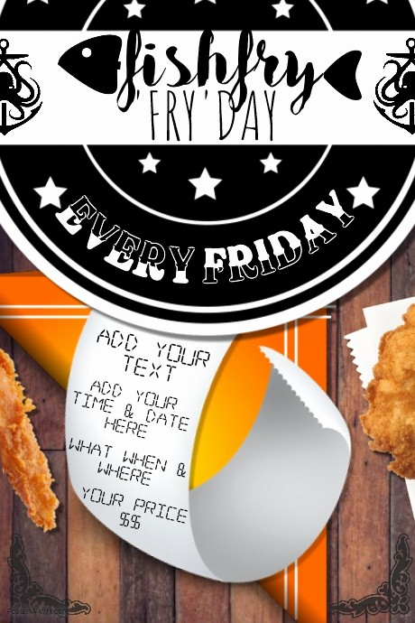 Free Fish Fry Flyer Template Luxury Fish Fry Food Restaurant Special Seafood Party Munity