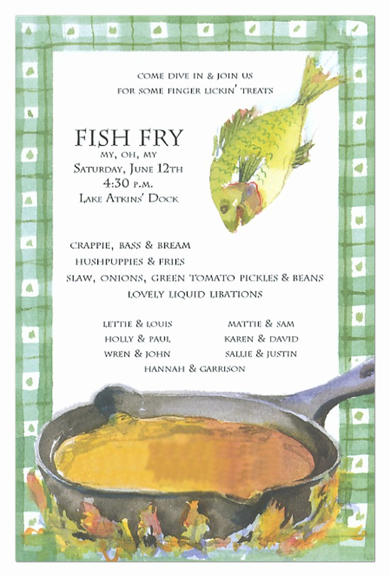 Free Fish Fry Flyer Template Luxury Fish Fry Invitation