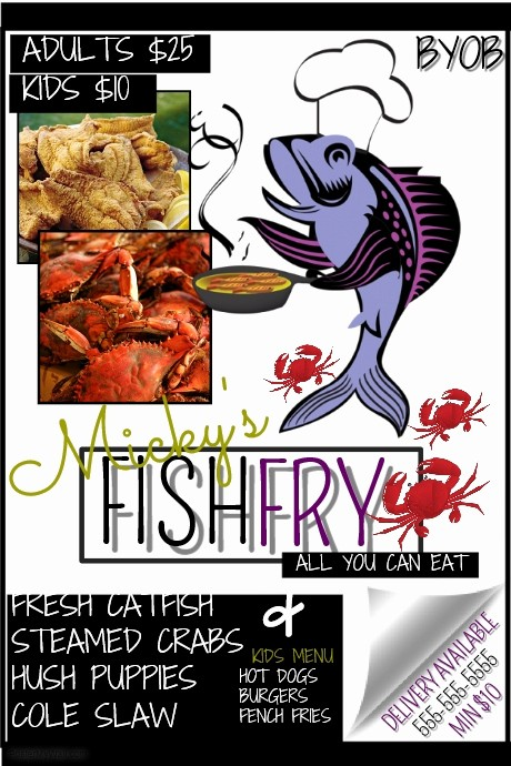 Free Fish Fry Flyer Template Luxury Fish Fry Template