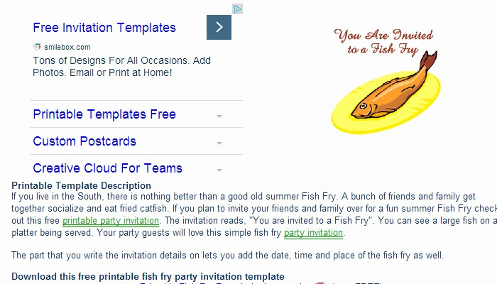 Free Fish Fry Flyer Template New 5 Fish Fry Flyer Templates