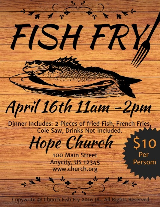 Free Fish Fry Flyer Template New Fish Fry Template