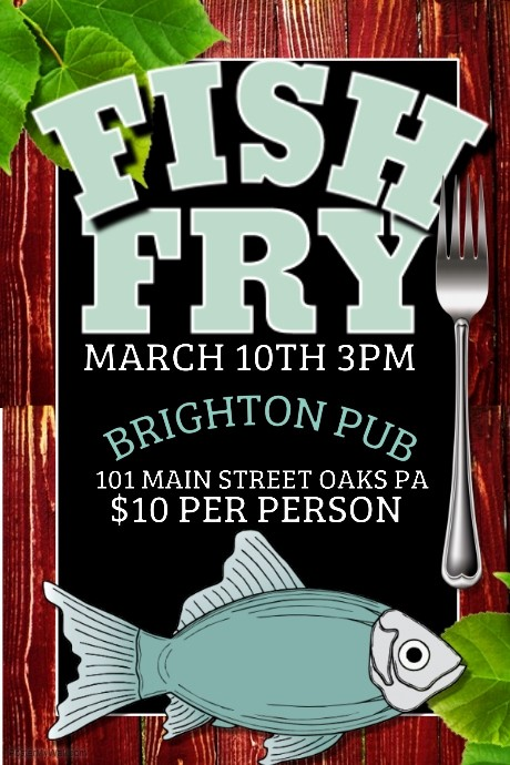 Free Fish Fry Flyer Templates Awesome Fish Fry Template