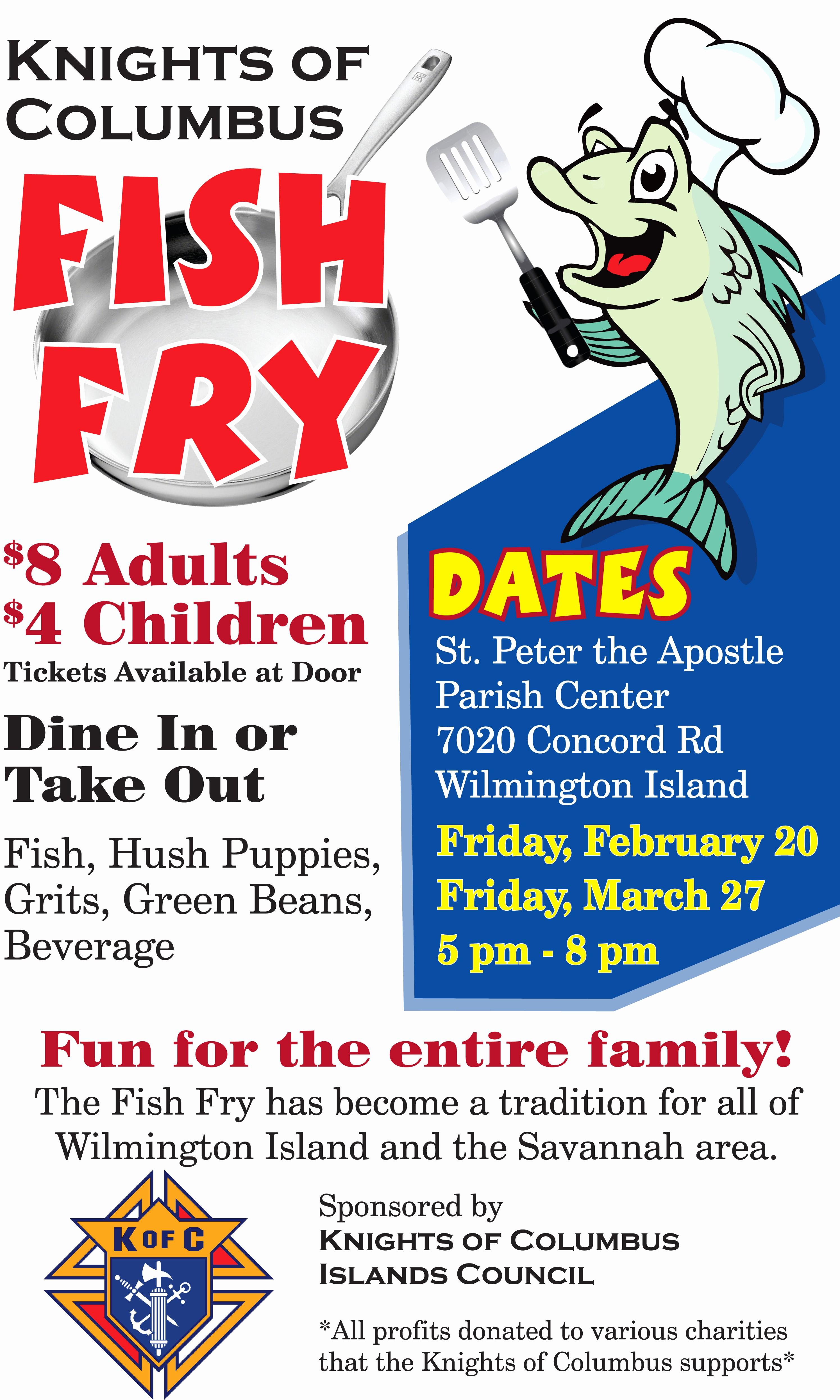 Free Fish Fry Flyer Templates Awesome K Of C Lenten Fish Fry Saint Peter the Apostle Saint
