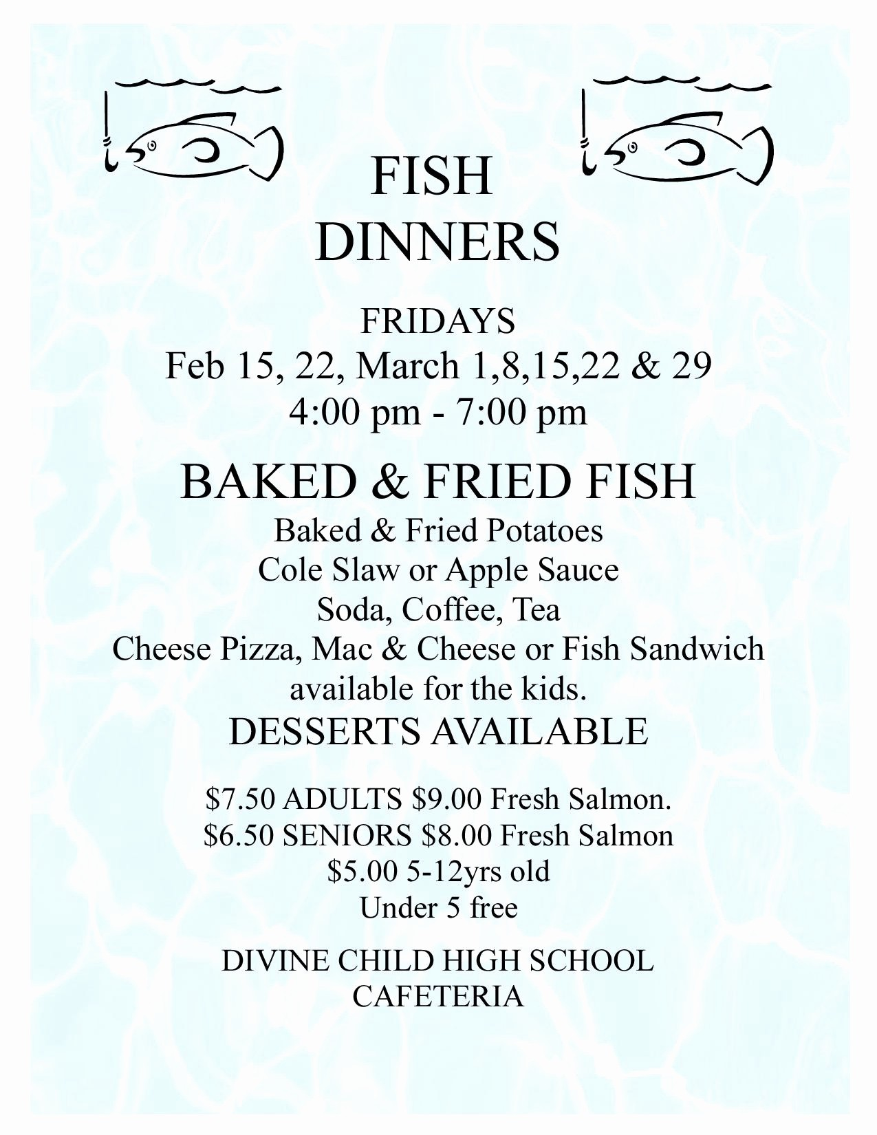 Free Fish Fry Flyer Templates Beautiful 12 Best S Of Sample Flyers for Selling Dinners soul