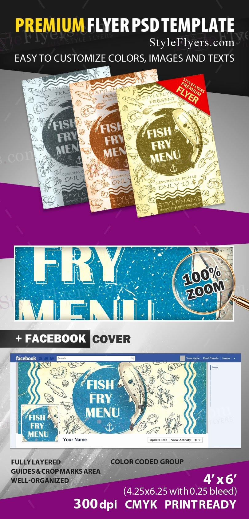 Free Fish Fry Flyer Templates Beautiful Fish Fry Menu Psd Flyer Template Styleflyers